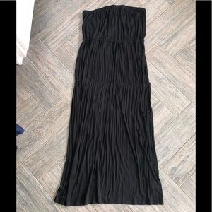 Old navy black strapless maxi dress xxl new